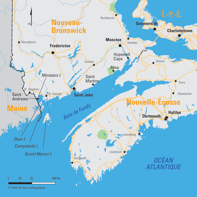 Bay Of Fundy Camping >> Une partie des maritimes.   Camping Caravaning