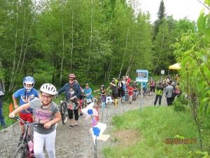 Cyclistes sur le sentier