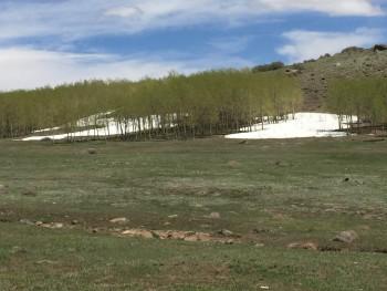Encore de la neige au sol en juin.