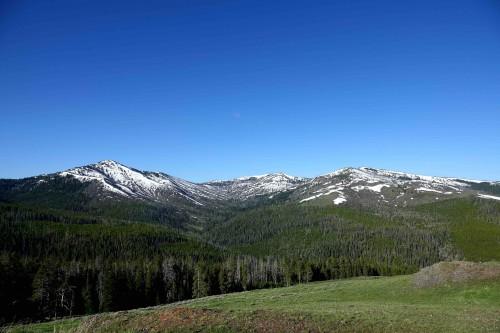 Le paysage change avec les sommets enneigés. - copie