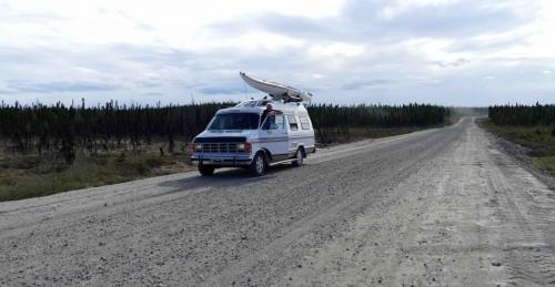 Labrador Highway, superbe route de gravier - copie