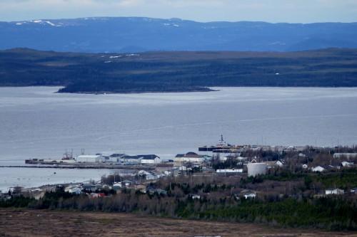 Cartwrigth vu du sommet de Blach Head.