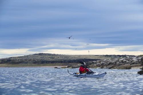 En kayak avec Eldon Jones.
