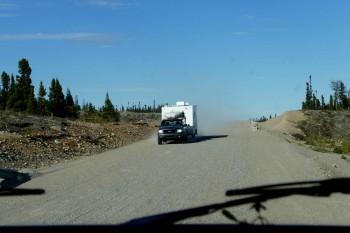 Plusieurs centaines de km sur une belle route de gravier.