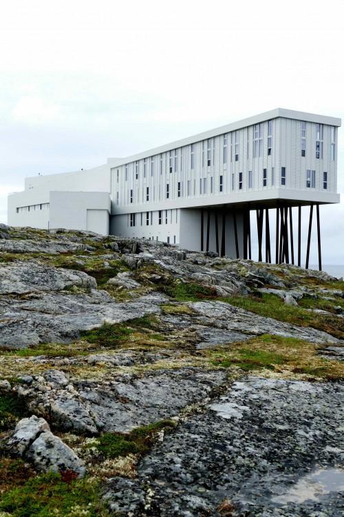 L'Architecture unique du Fogo Inn.
