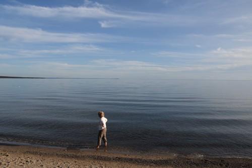 Premier contact avec l'immensité du lac Supérieur. - copie