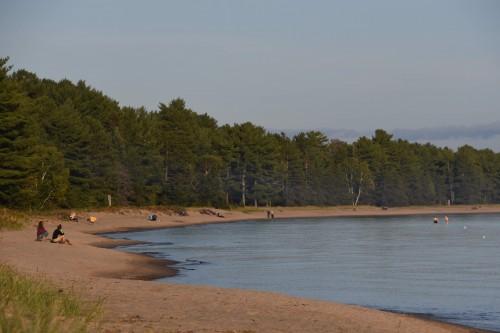 Trois km de plage sur le lac Supérieur - copie