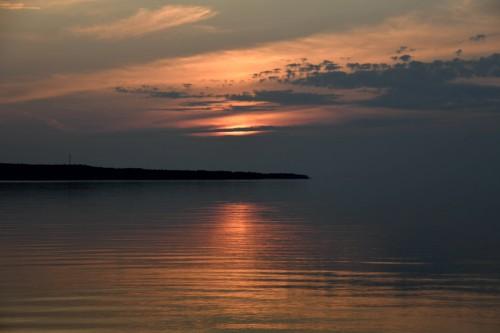 Le rideau tombe sur le lac Supérieur.